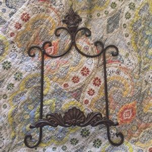 Wrought Iron single plate display